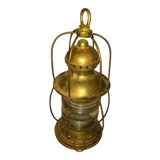 Vintage Nautical Brass Coastal Lantern