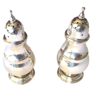 Sterling Silver Salt & Pepper Shakers - A Pair