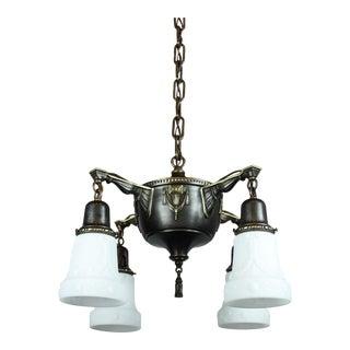 Neoclassical Pan Light Fixture (4-Light)