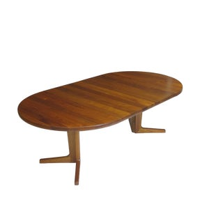 Solid Teak Dining Table with Two Leaves