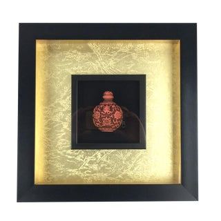 Shadowbox Framed Chinese Snuff Bottle