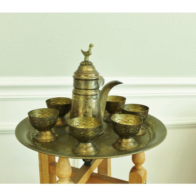 Vintage Brass Turkish Coffee Set - Image 3 of 5