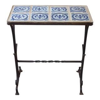 Fleur De Lis Tile Table