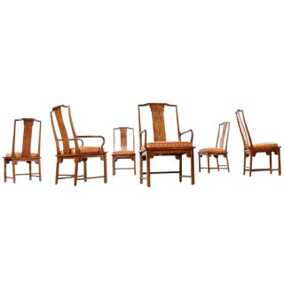 Chin Hua Chinoiserie Dining Chairs - Set of 6