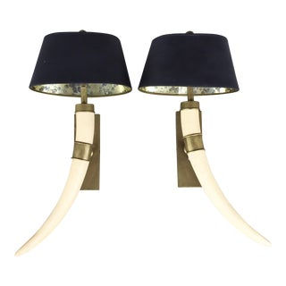 Chapman Tusk Sconces - a Pair