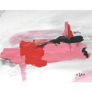 """Rosy Vistas"" Abstract Pink Landscape by Cleo"