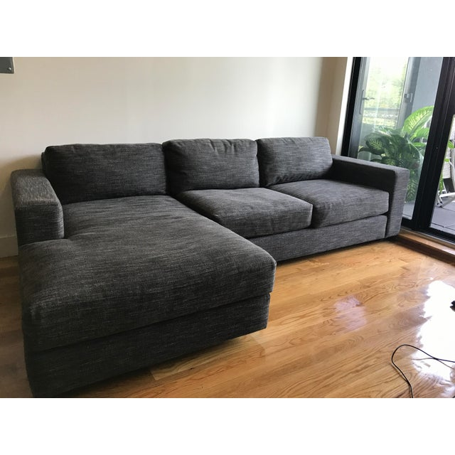 West Elm Urban 2-Piece Chaise Sectional - Image 2 of 3