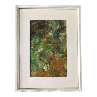 Vintage Abstract Oil Painting by Emilie DeS. Atlee