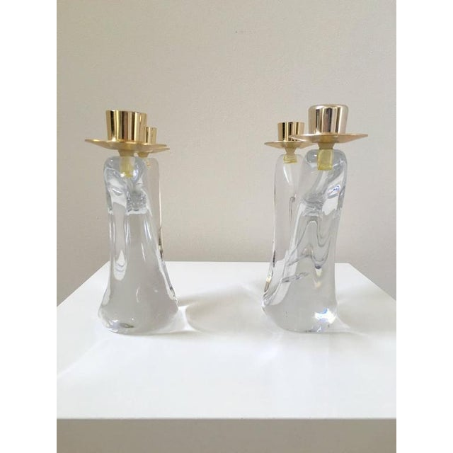Schneider French Crystal Candlesticks - A Pair - Image 5 of 9
