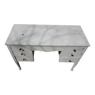 White Vintage Writing Desk