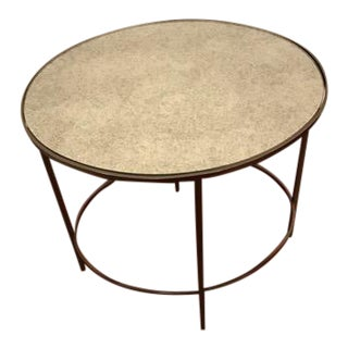 West Elm Foxed-Mirror Oval Side Table