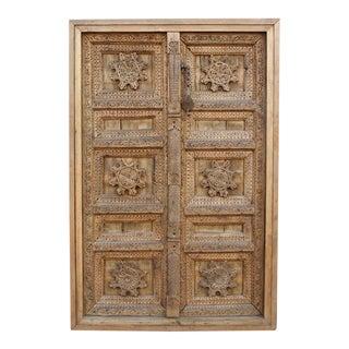 Rare Antique Mandala Carved Door