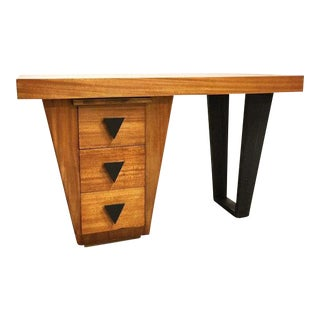 Paul Laszlo for Brown Saltman Mahogany Veneer Desk