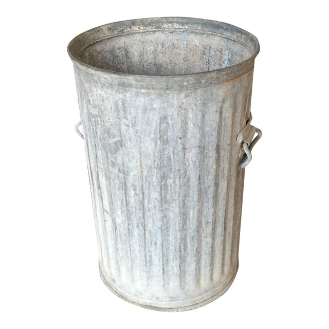 Vintage Galvanized Metal Barrel Bucket - Image 1 of 9