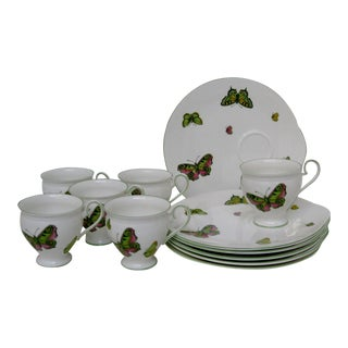 Crown Staffordshire Snack Set - 12 Pieces