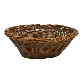 Vintage French Oval Market Basket