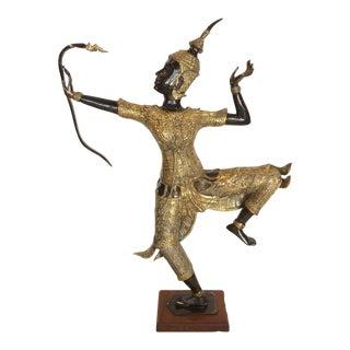Thai Rama Archer Bronze Figure