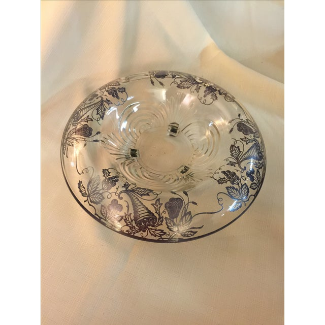 Sterling Silver Overlay Crystal Bowl - Image 2 of 4