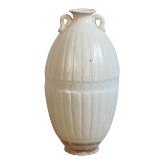 Hand Thrown White Milk Ceramic Pottery Vase