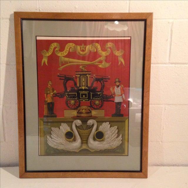 Allen Saalburg Vintage Serigraph Print in Frame - Image 2 of 4