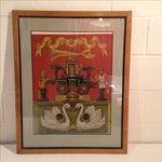 Image of Allen Saalburg Vintage Serigraph Print in Frame