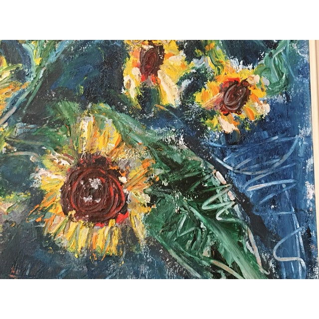 """Large """"Sunflower"""" Painting by Trieste - Image 5 of 6"""
