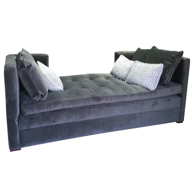 Modern Grey Daybed & Pillows - Image 1 of 8