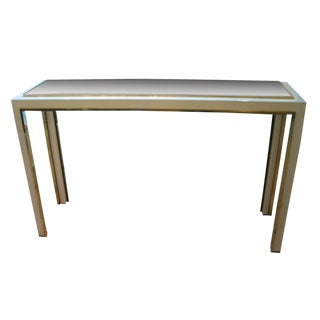 Willy Rizzo Smoke Glass Top Console