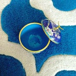 Image of Cobalt Blue Chinese Cloisonné Apple Trinket Box