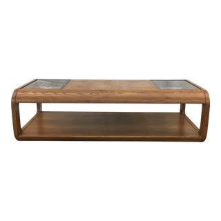 Oak & Glass Coffee Table