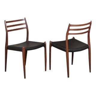 Moller Moller 78 Chairs in Teak - A Pair