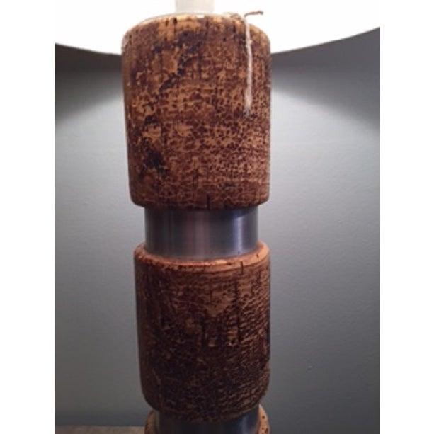 Russel Wright Cork & Aluminum Table Lamp - Image 3 of 4