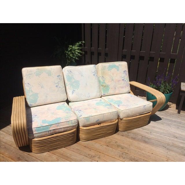 paul frankl design vintage rattan sofa chairish. Black Bedroom Furniture Sets. Home Design Ideas