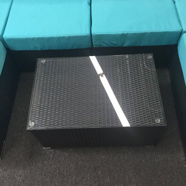 Turquoise Wicker Patio Set - Image 9 of 9