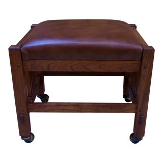 Stickley Seated Rolling Footstool