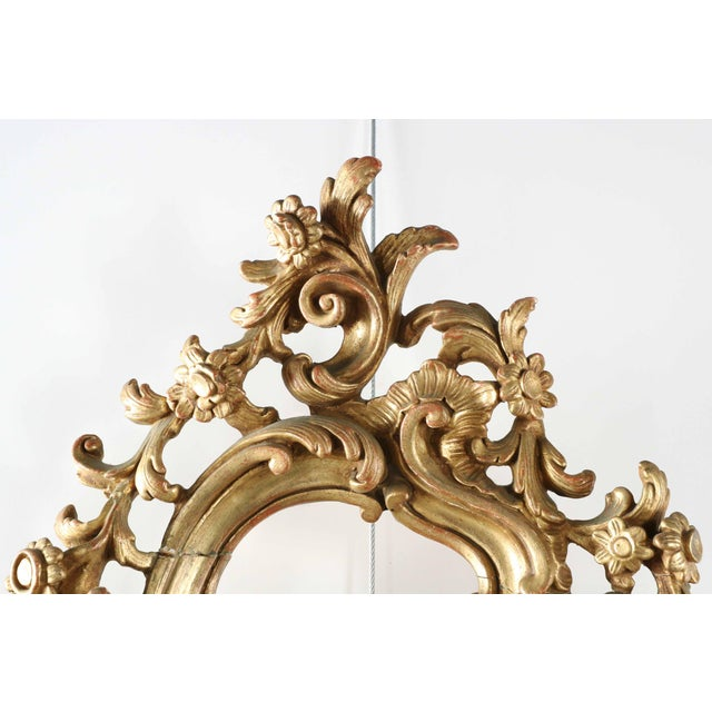 French Louis XV Style Carved Giltwood Antique Mirror - Image 6 of 10