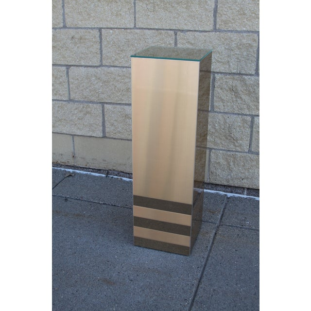 Image of Gold Pedestal Plant Stand