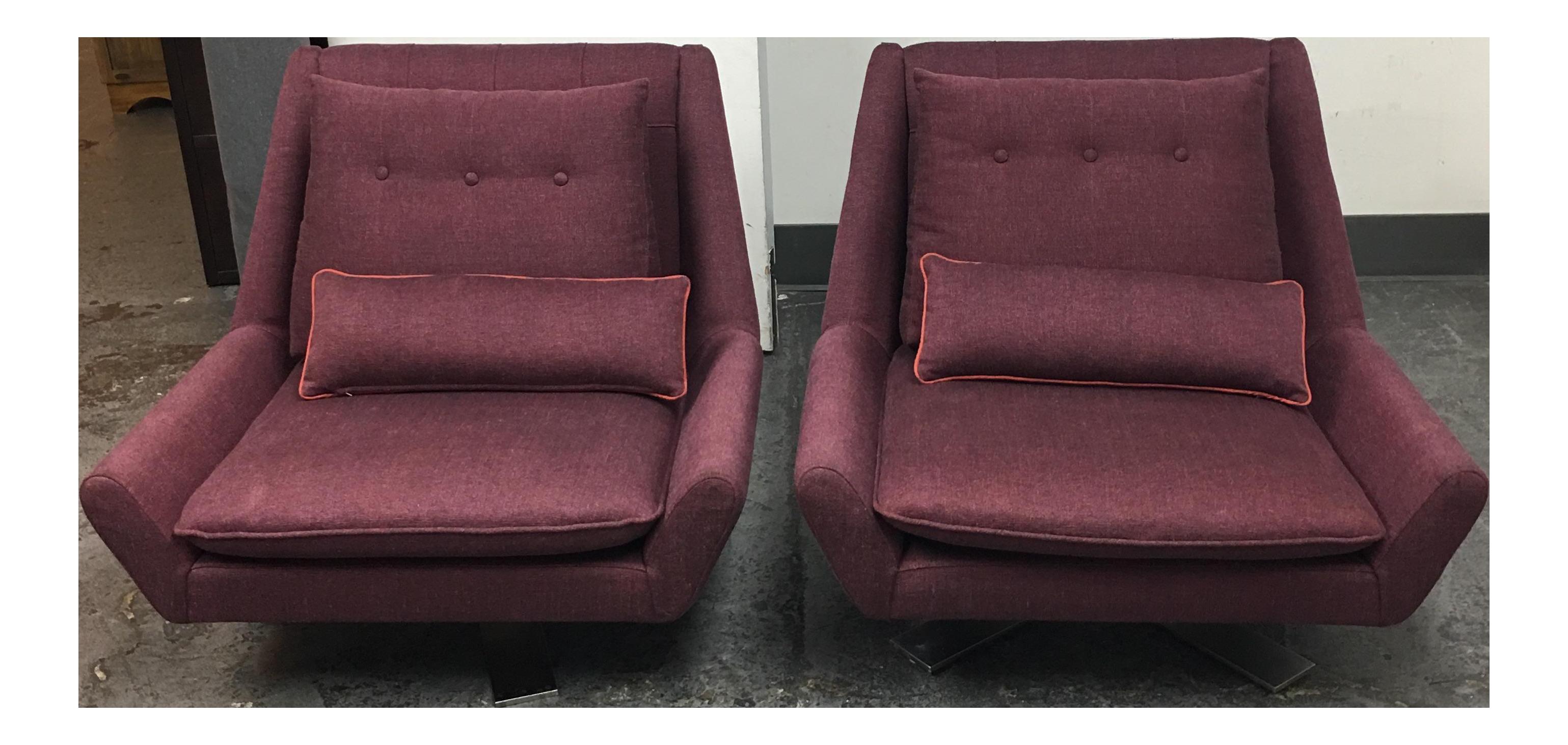 Good Vioski Palm II Swivel Chairs   A Pair