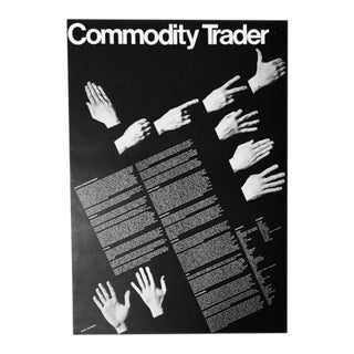 John Massey 1972 Commodity Trader Graphic Poster