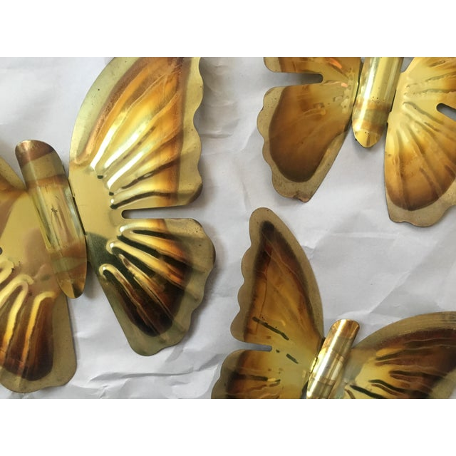1970s Brass Butterfly Wall Hangings- Set of 3 - Image 3 of 5