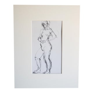 Mid Century Nude Drawing III by Paulina Jones Everitt