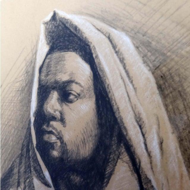Framed Pencil Drawing by David Eugene Henry - Image 2 of 8