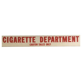 Vintage Cigarette Department Double Sided Advertising Sign
