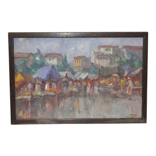 Vintage Impressionist Oil Painting by Gabetto