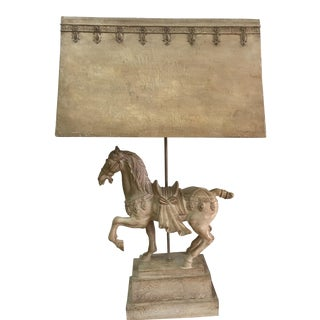1940s Plaster Lamp of Imperial Horse