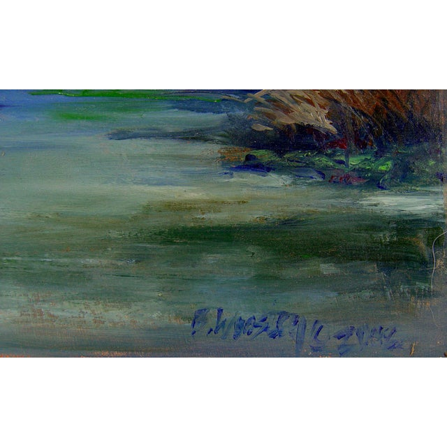 Plein Air River Painting by B. Woosley - Image 2 of 2