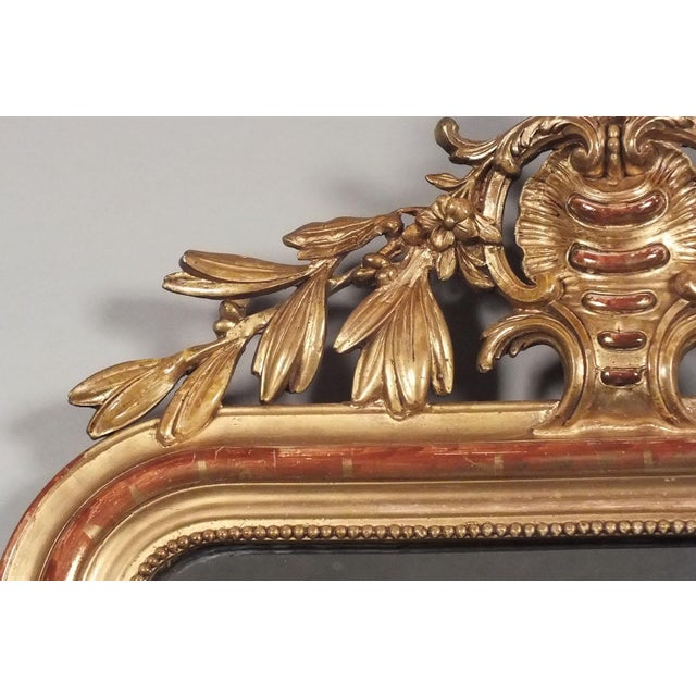 Image of Antique French Louis XVI Giltwood Mirror