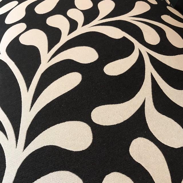Black & White Botanical Loveseat - Image 6 of 8