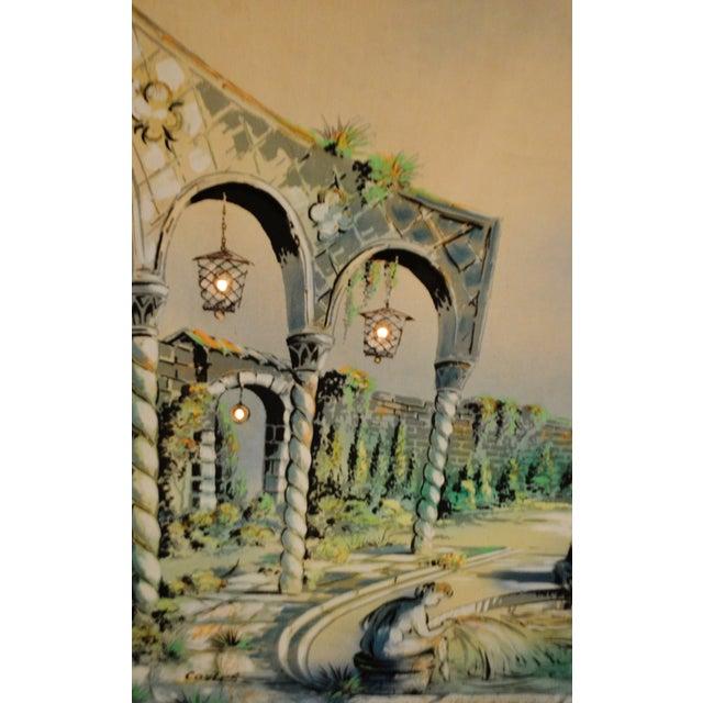 Vintage Signed Illuminated Giclee Painting on Panel - Image 6 of 9