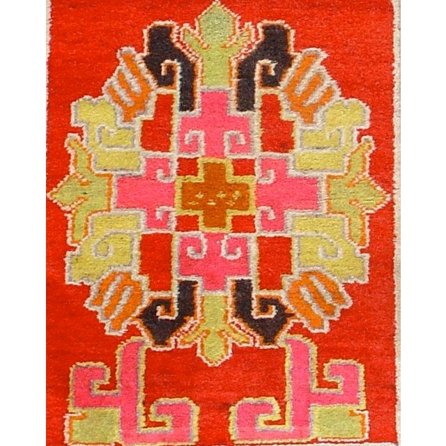 Vivid Chinese Turkestan Yarkand Rug - Image 3 of 3